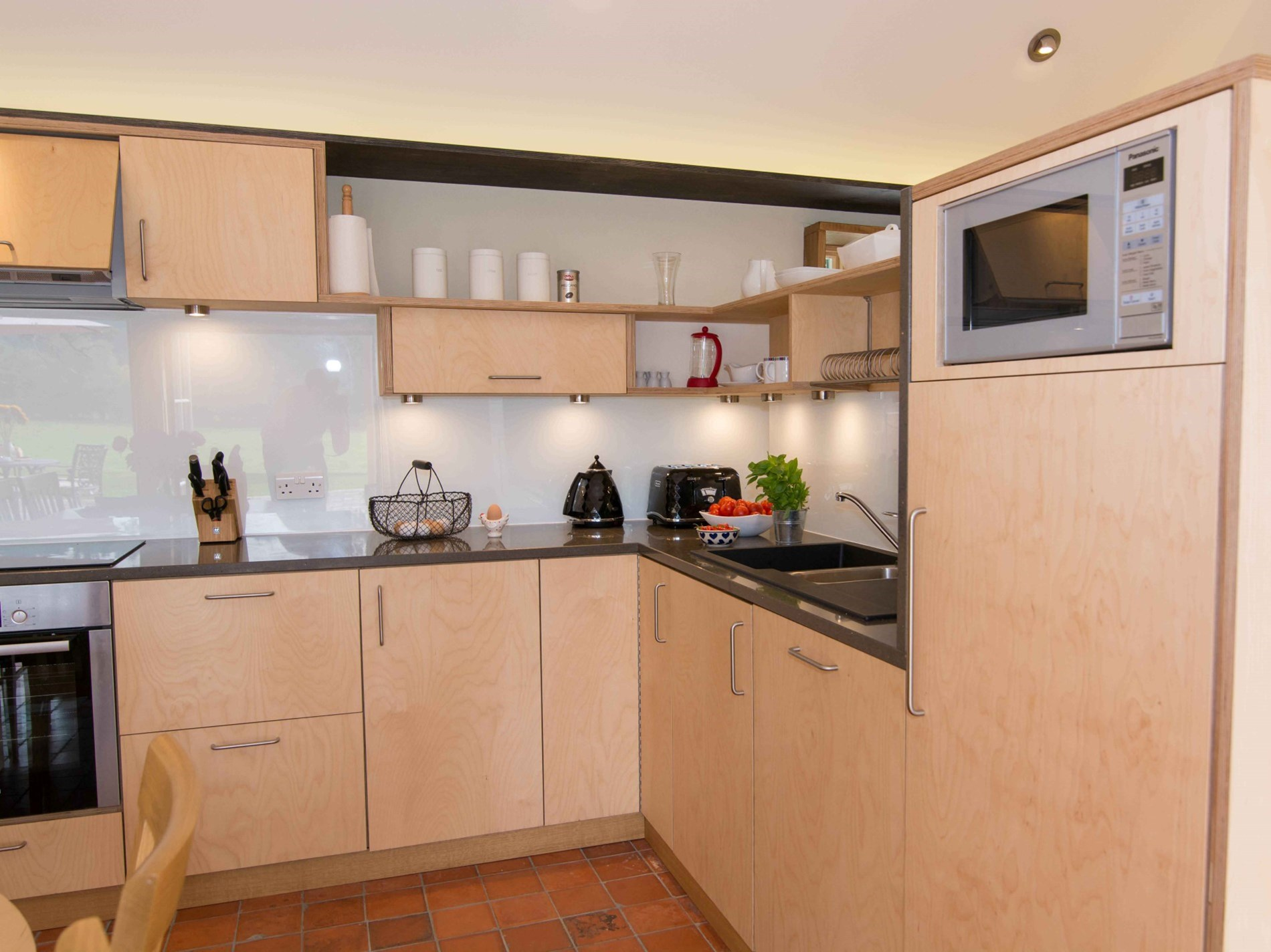 Everything to hand in the well equipped kitchen