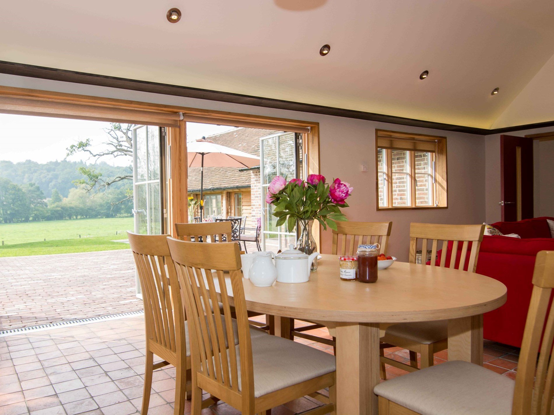 Savour the countryside surrounding the property