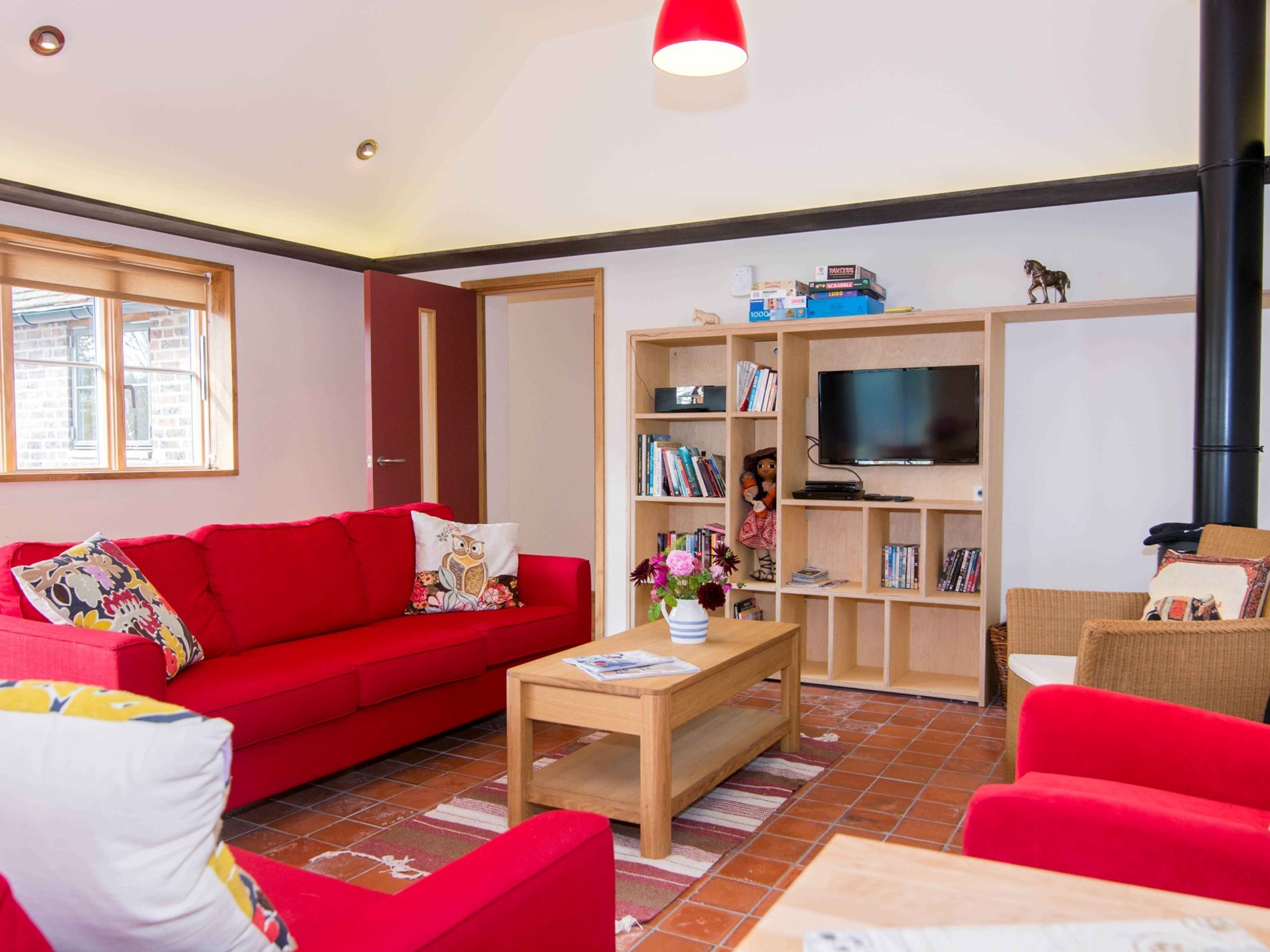 Relax in this spacious and cosy rural retreat