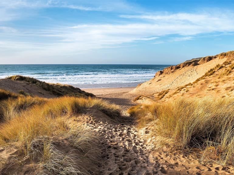 Idyllic sandy beaches