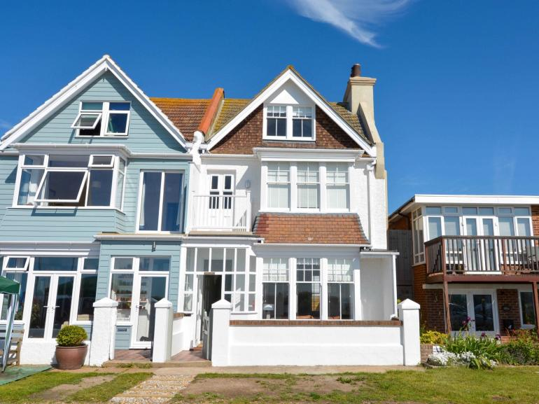 View towards the beachfront house