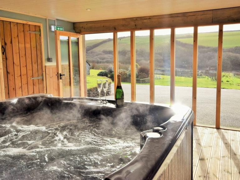 Private hot tub with stunning views of grounds