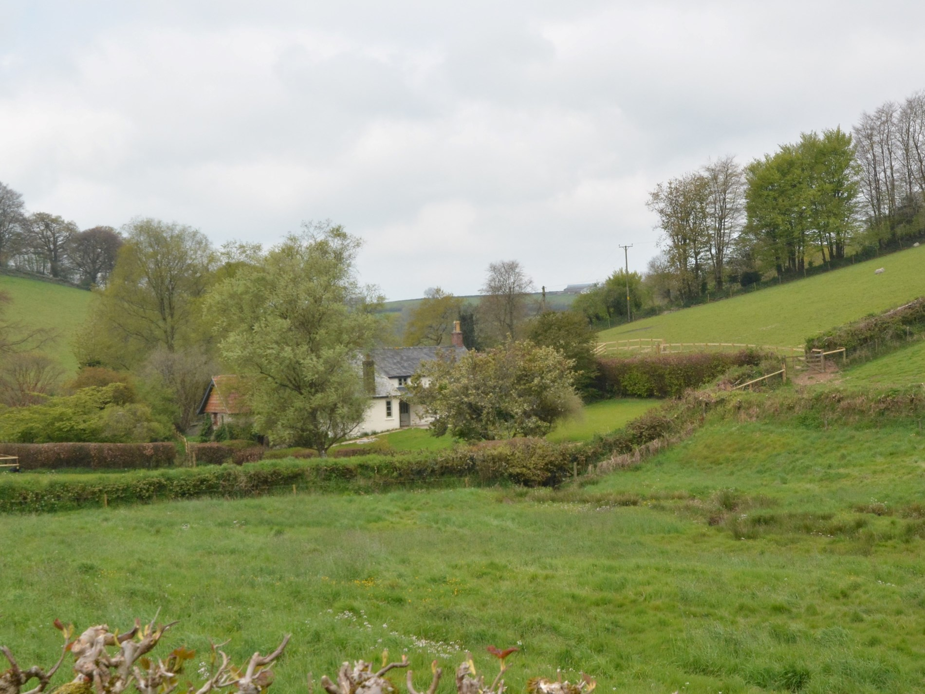 View towards the property surrounded by countryside