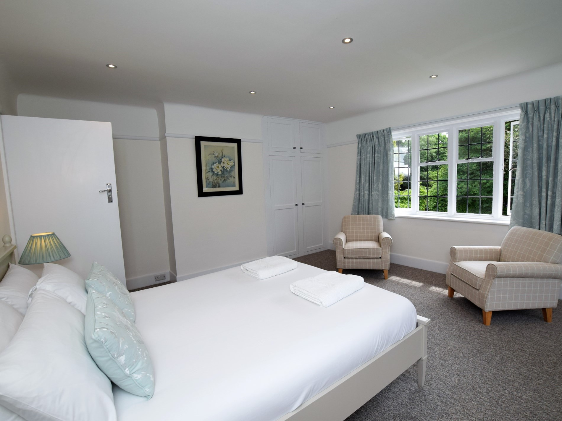 Spacious king-size room with en-suite shower room
