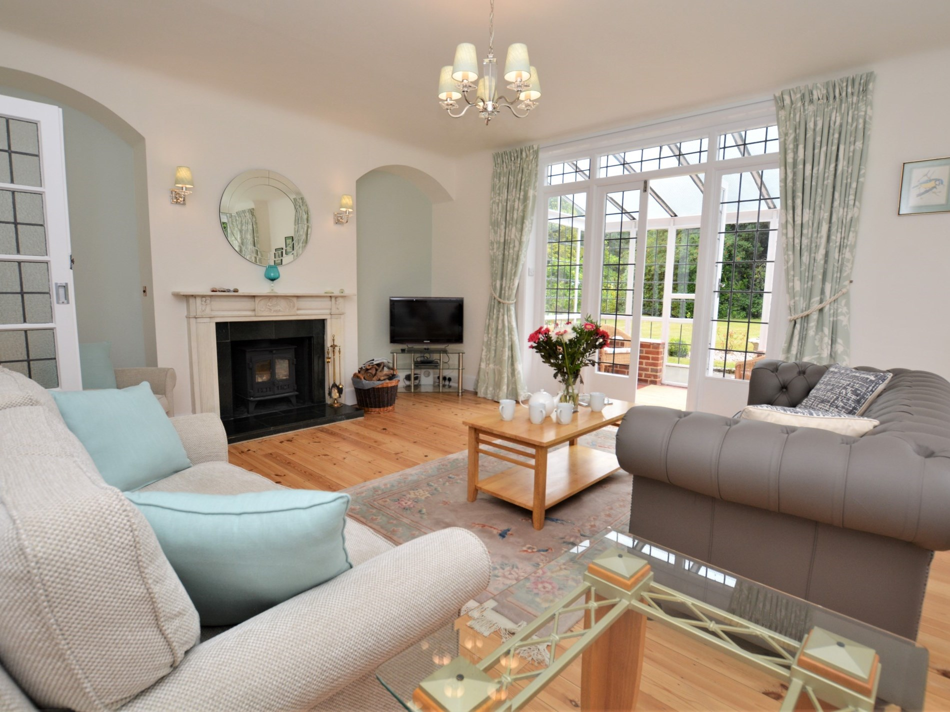 Enjoy the woodburner whilst relaxing in the lounge