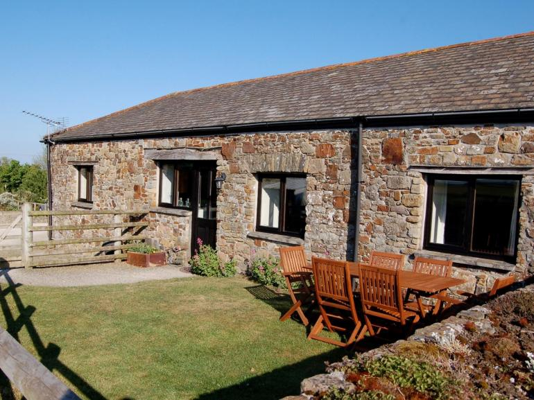 17th century converted stone barn with south-facing private garden