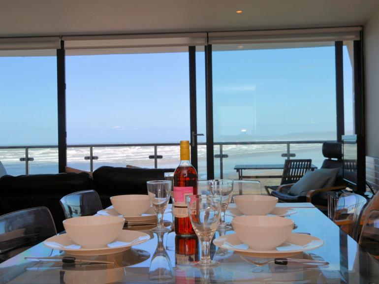 Enjoy a meal in front of breathtaking sea views