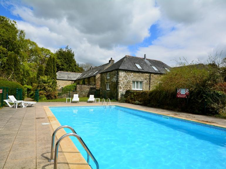 Shared swimming pool open May - mid September