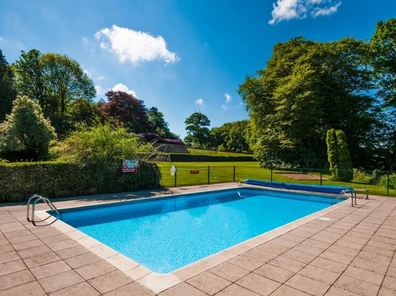 Shared salt water pool heated May - mid September