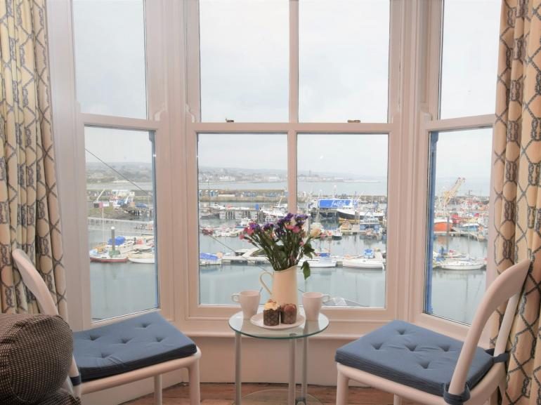 Relax and take in the harbour view
