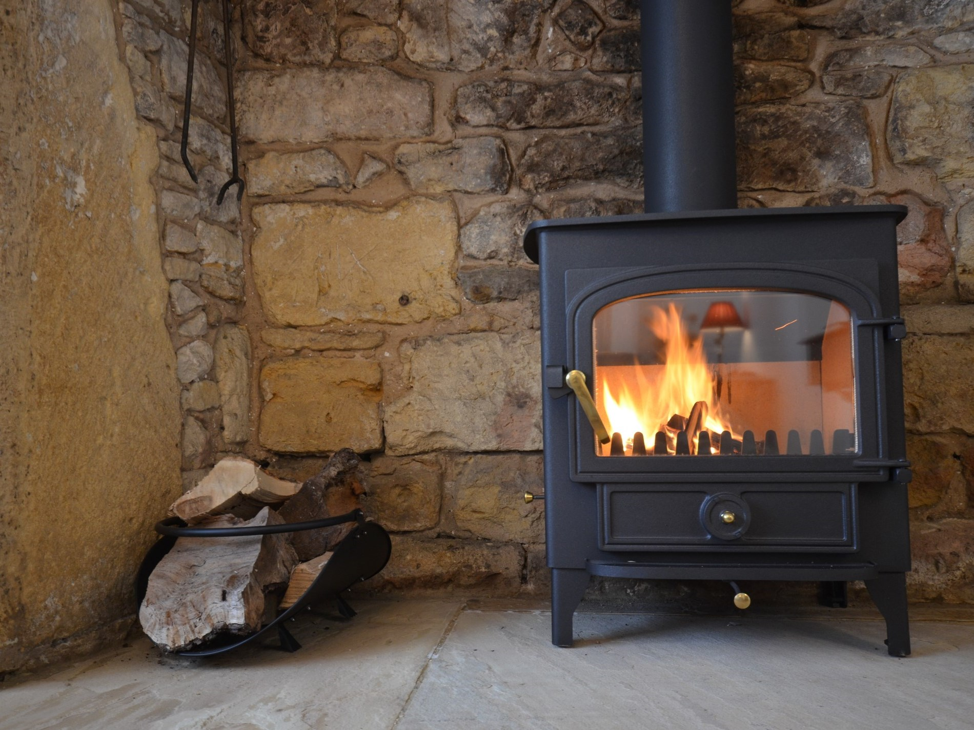 Enjoy an evening in front of the woodburner