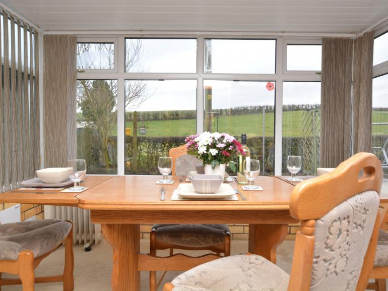 Conservatory with countryside views