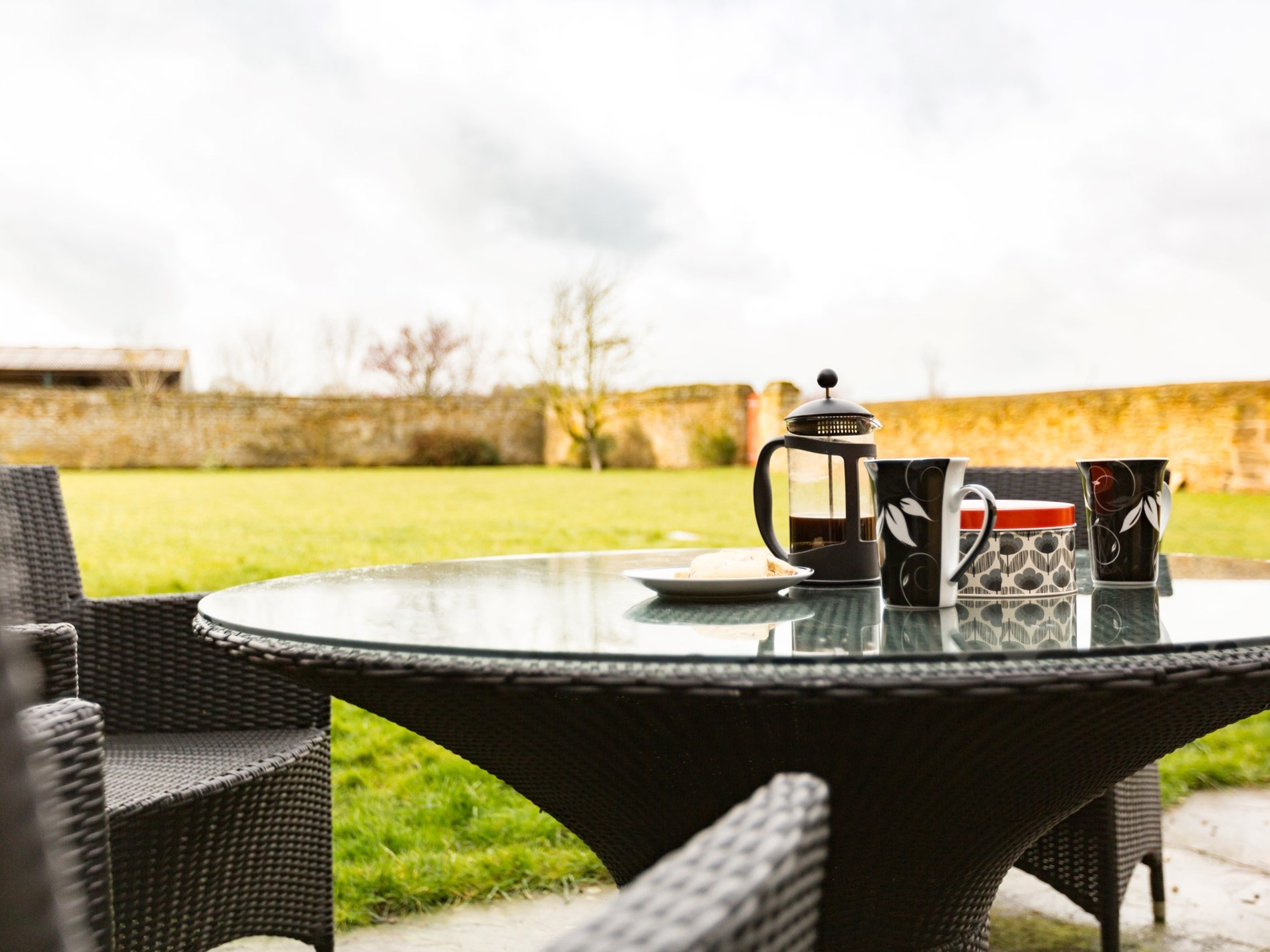 Relax in the garden with a coffee