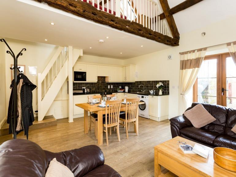 Modern open-plan living space