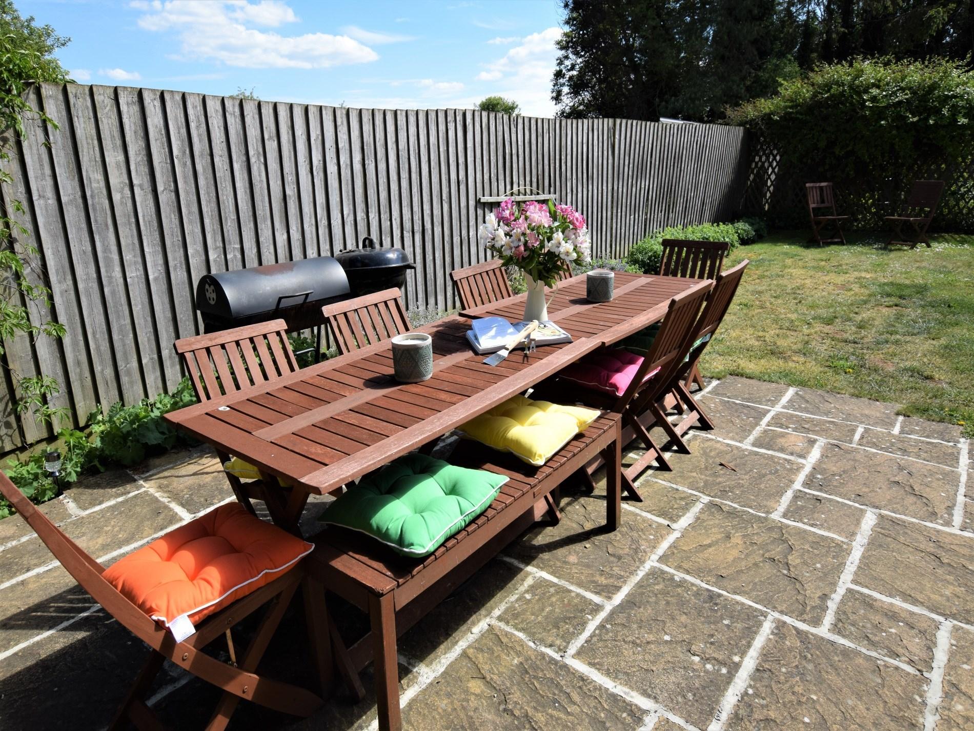 Enjoy a family BBQ in the garden