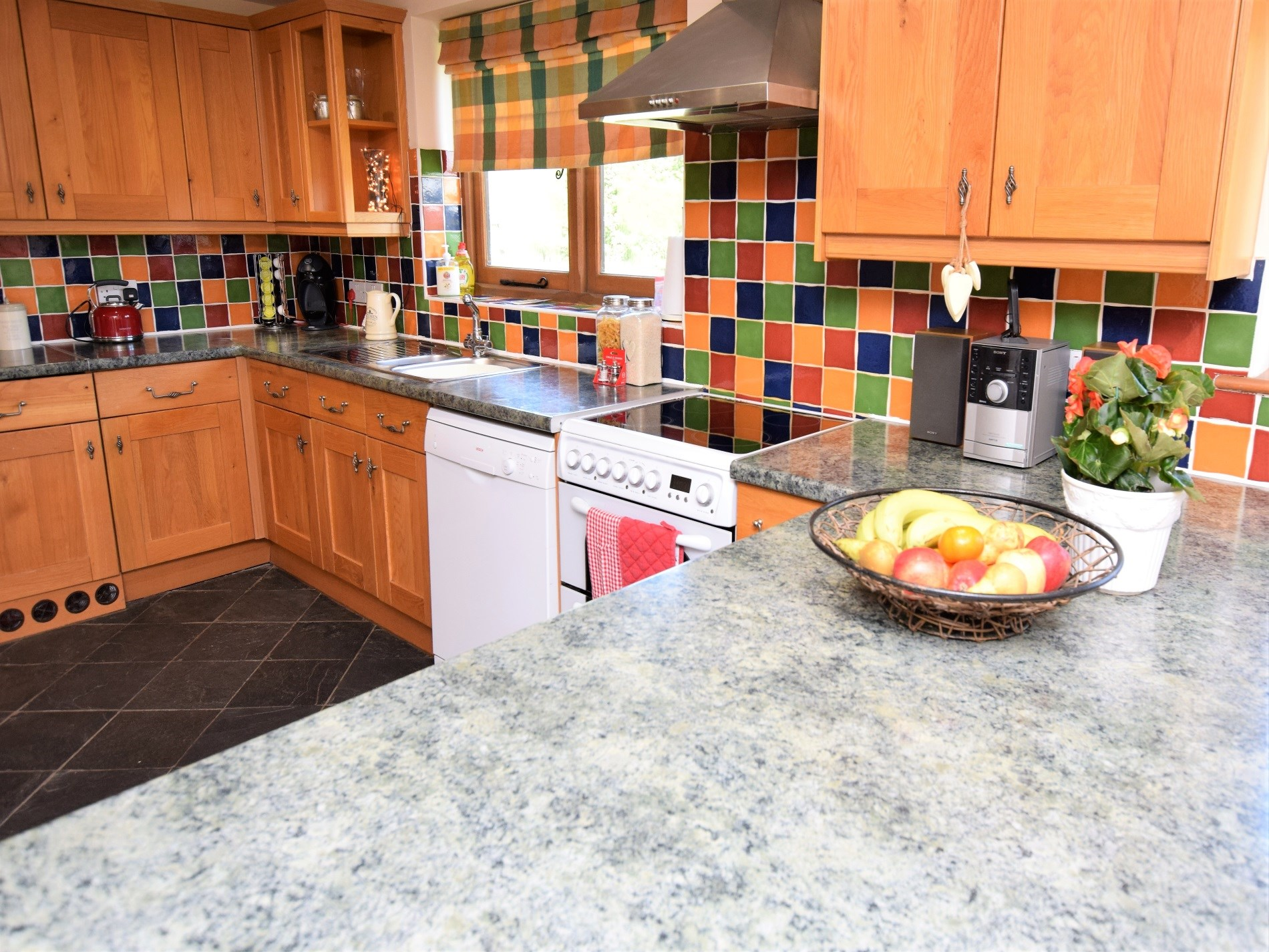 Large well equipped family kitchen