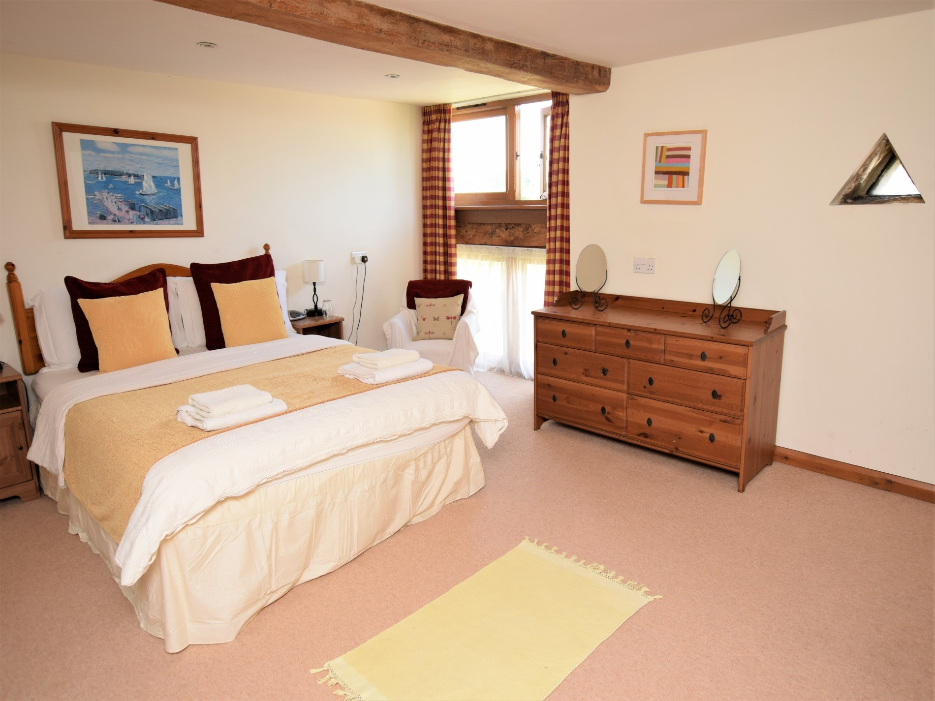 King size bedroom leading to the twin bedroom
