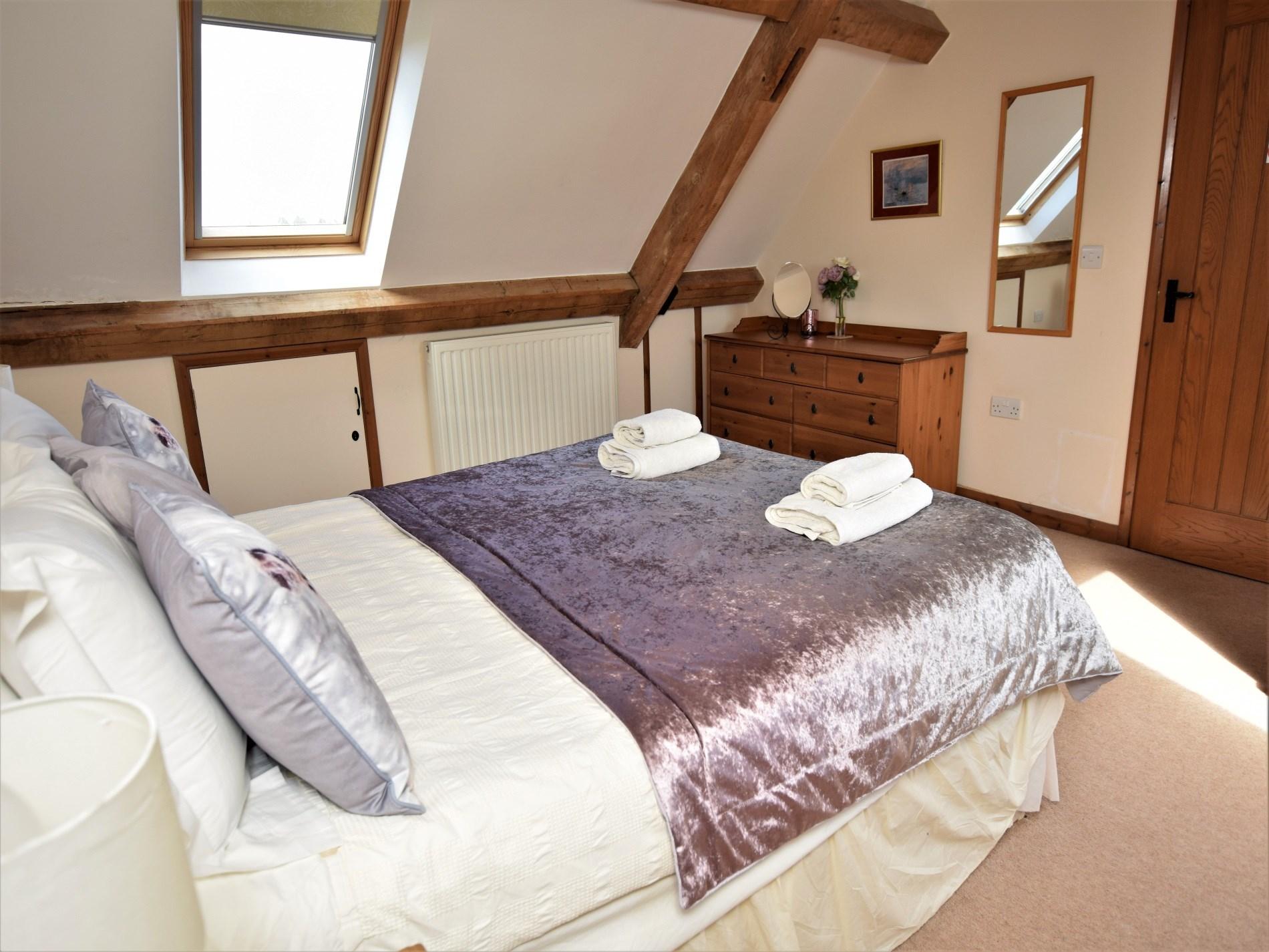 King size bedroom on the top floor