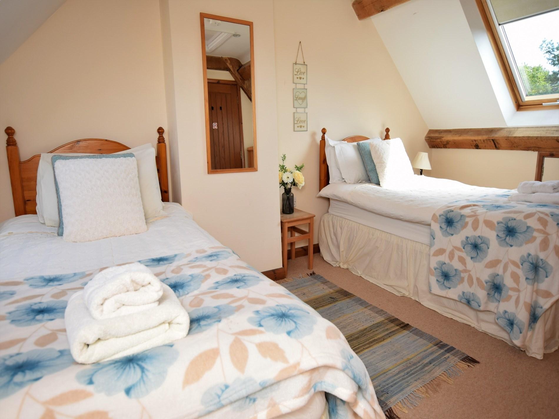 Twin bedroom on the top floor