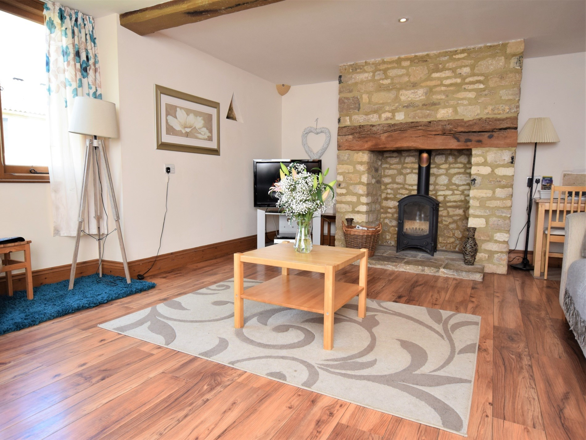 Light the wood burner for a cosy evening in by the fire