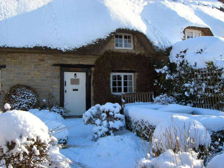 The property  in snow