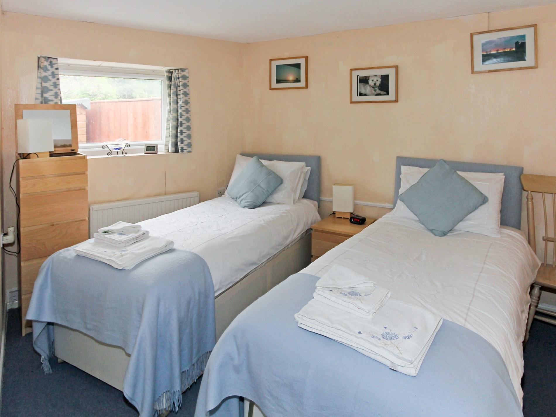 Twin bedroom located on ground floor