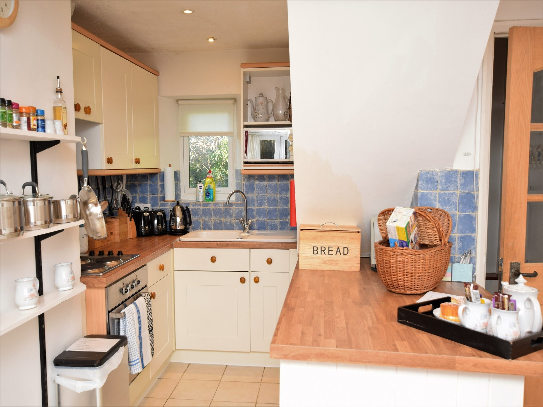 Well equipped kitchen with welcome pack