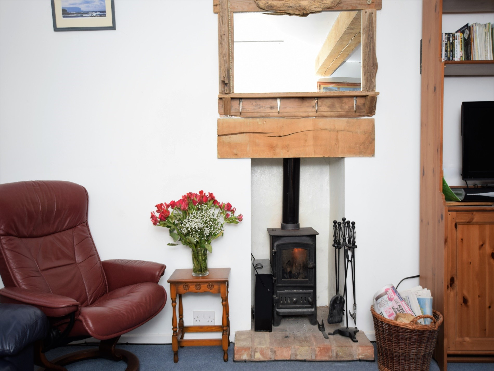 Cosy wood burner for chilly nights