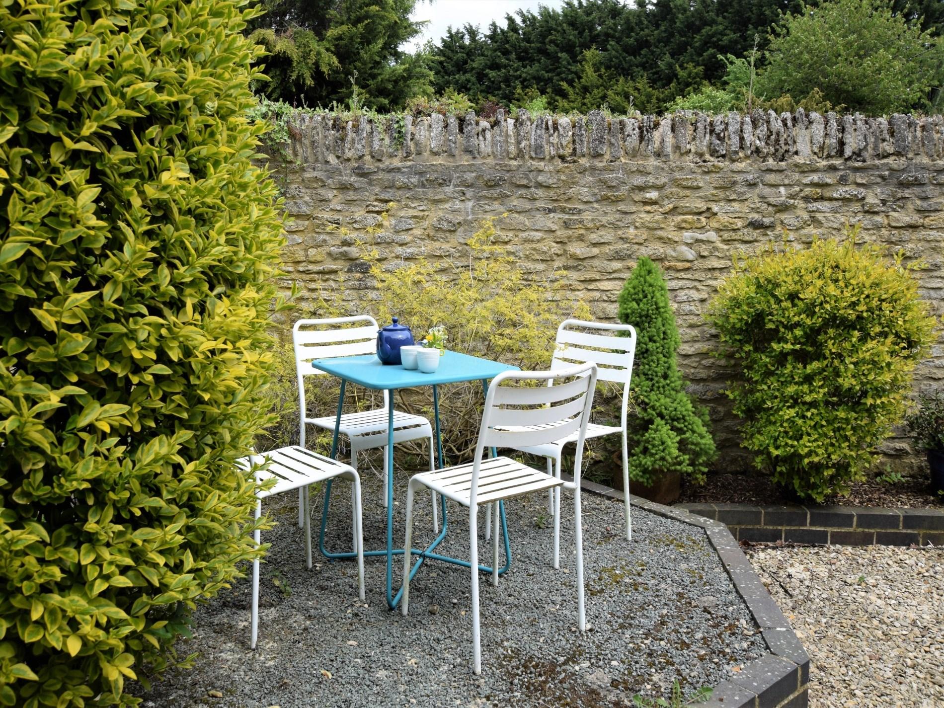 Enjoy tea outside