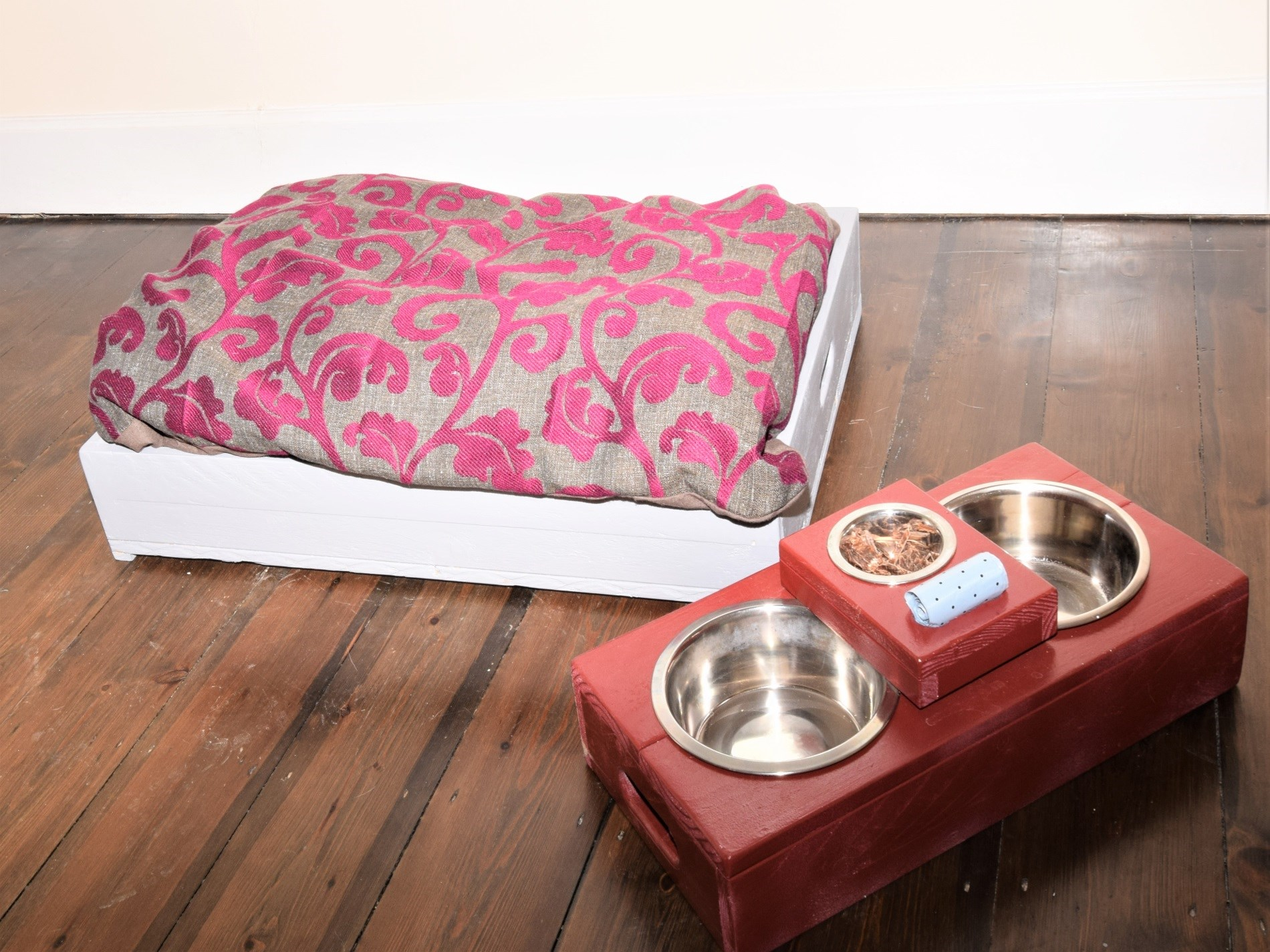 Dog bed available to hire