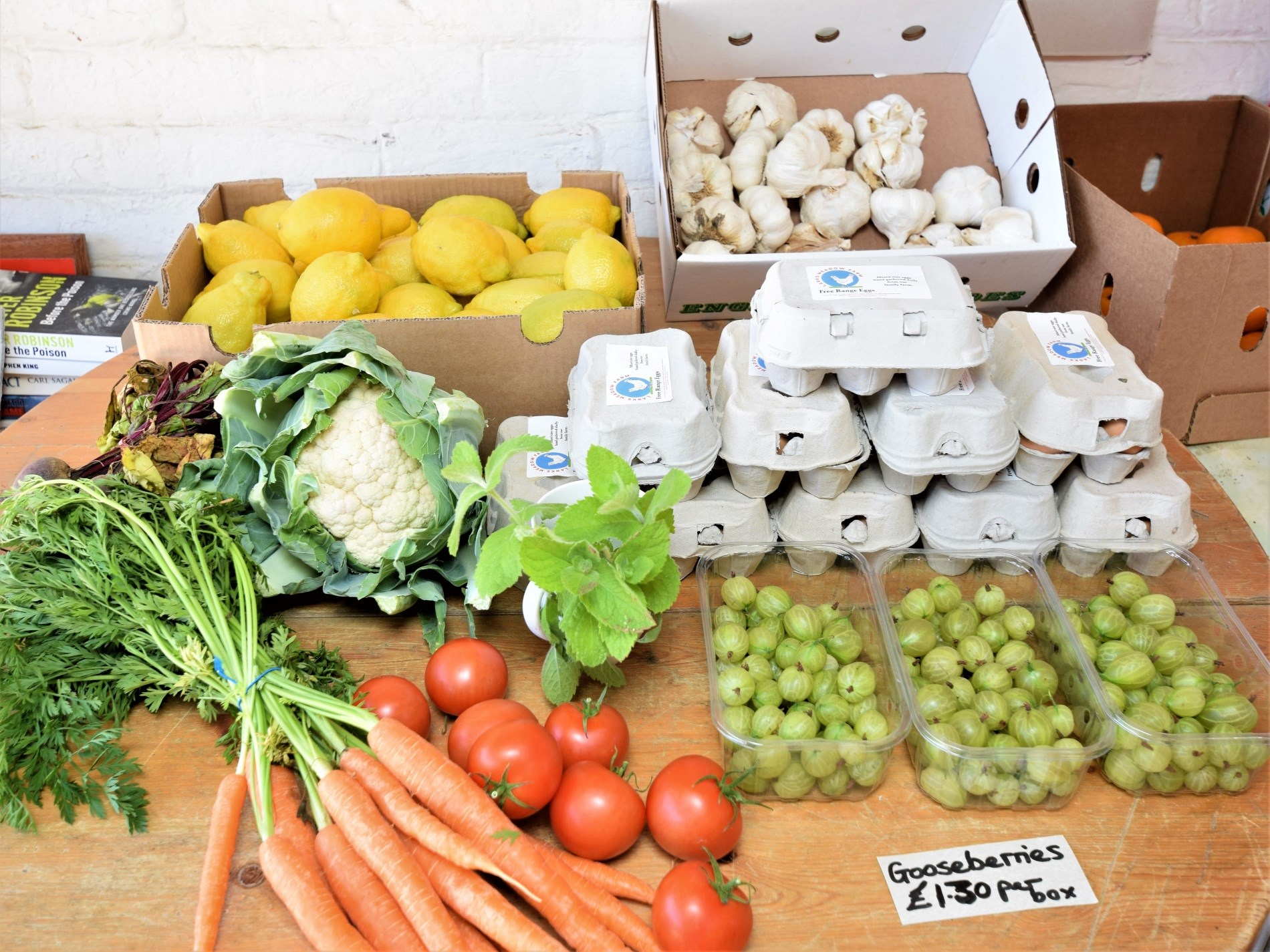 Lovely local produce in the farm shop