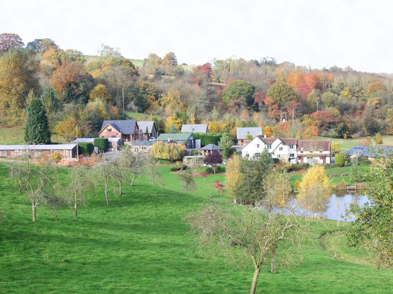 View towards the cottages