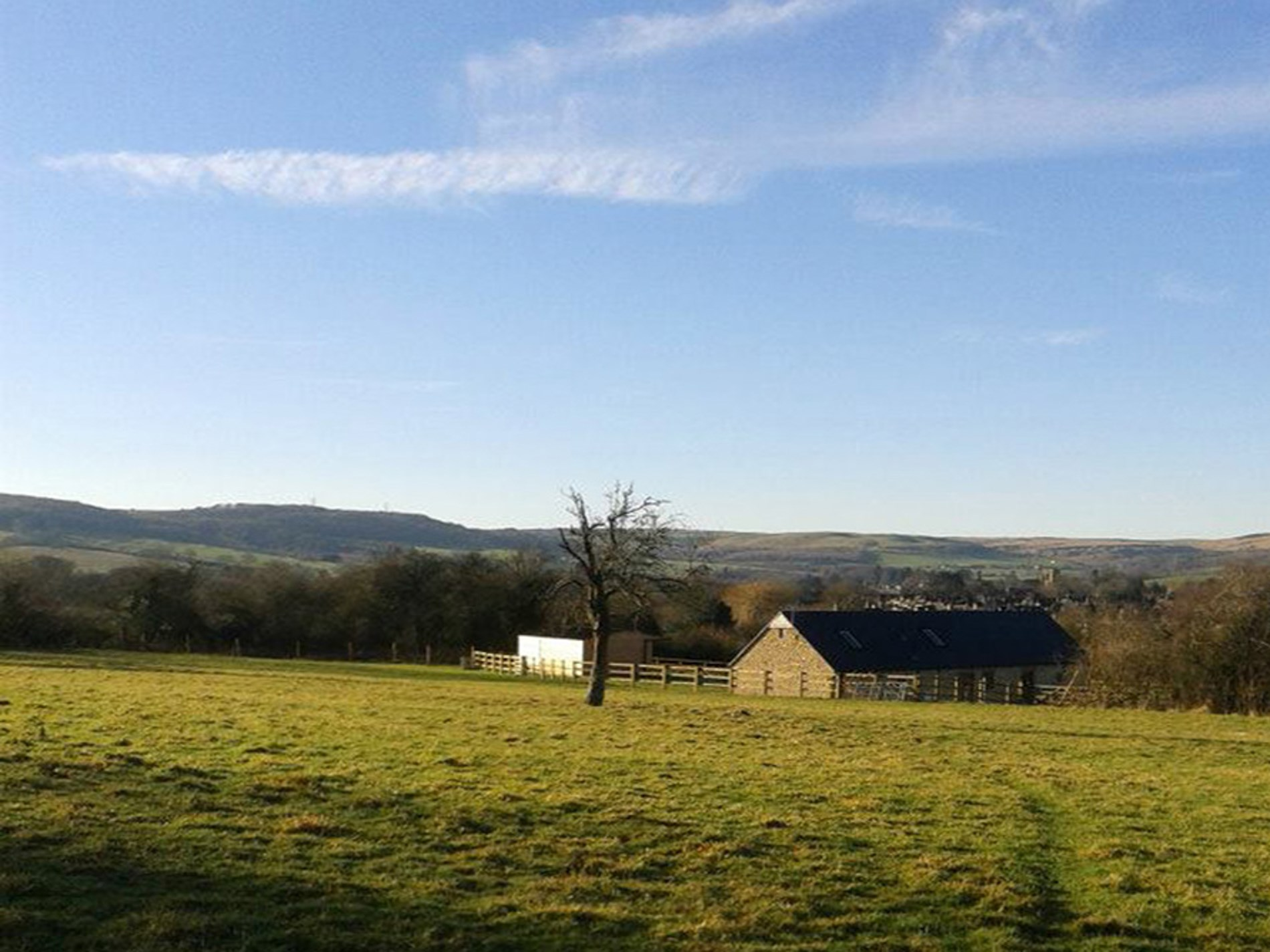 View towards the property and far reaching views