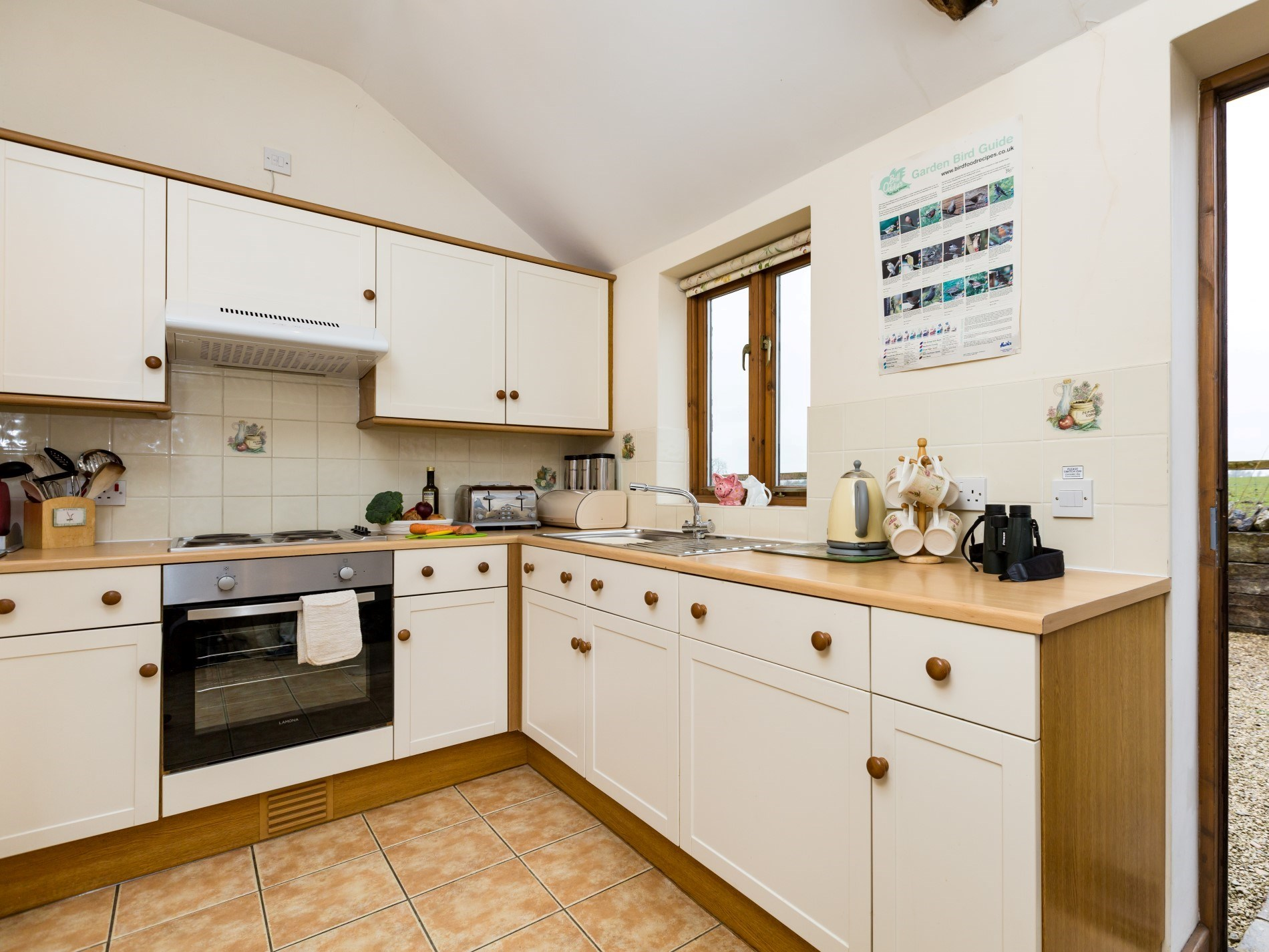 Well-equipped bright kitchen