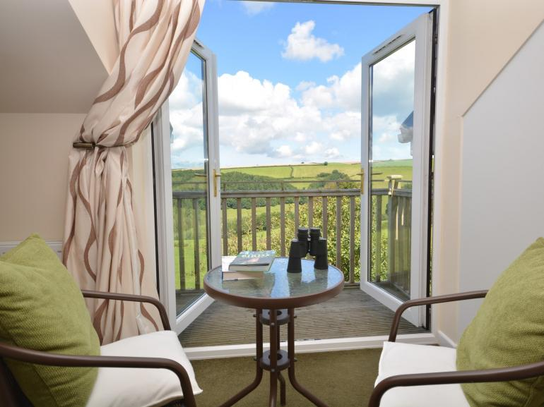 Enjoy the views from the bedroom balcony