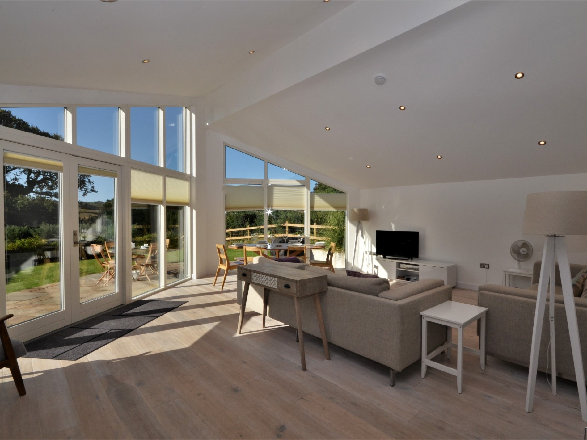 Kitchen area with countryside views