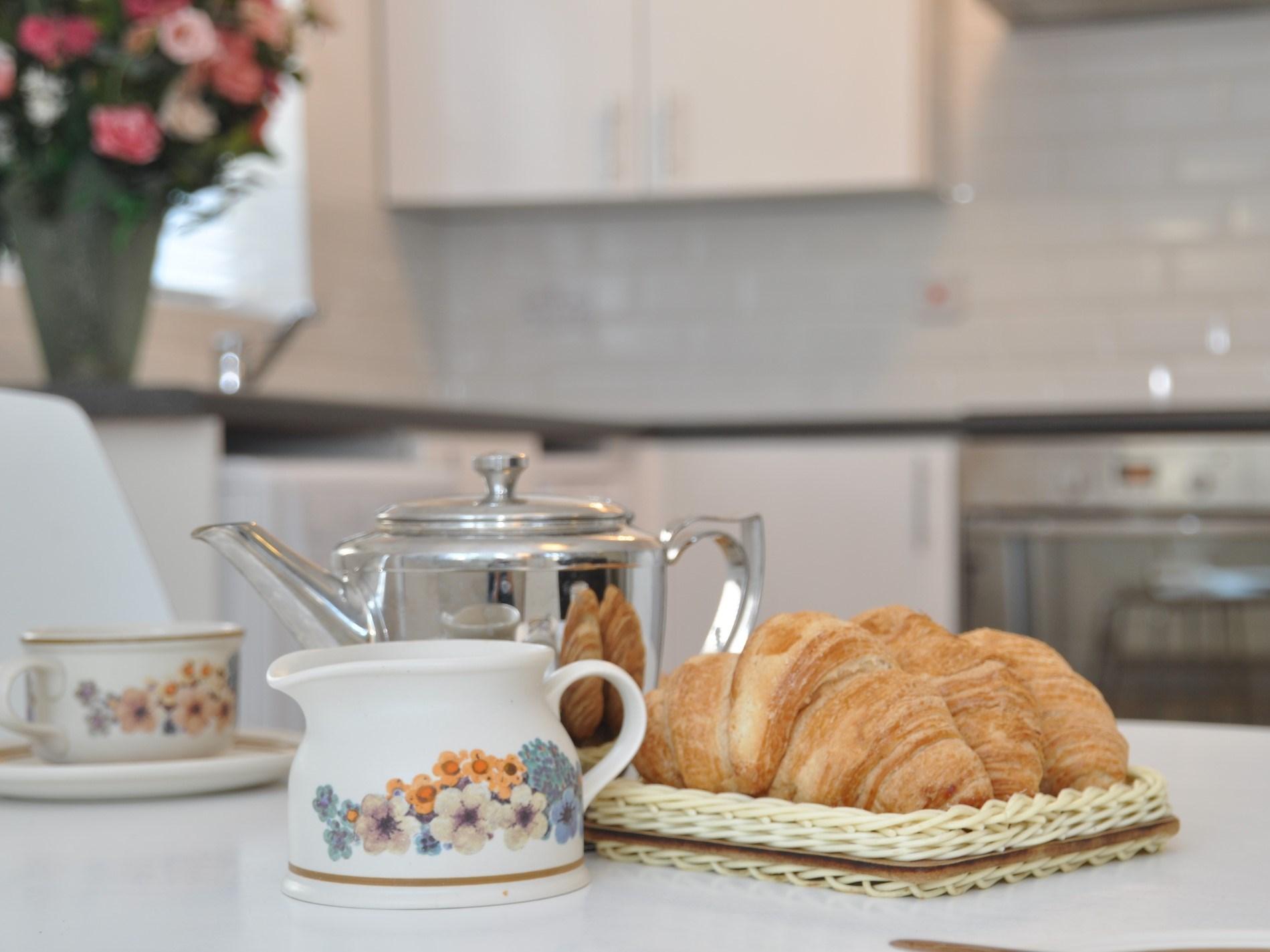 Enjoy breakfast with a pot of tea