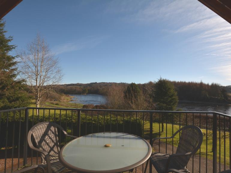Beautiful views over the River Tay from the balcony