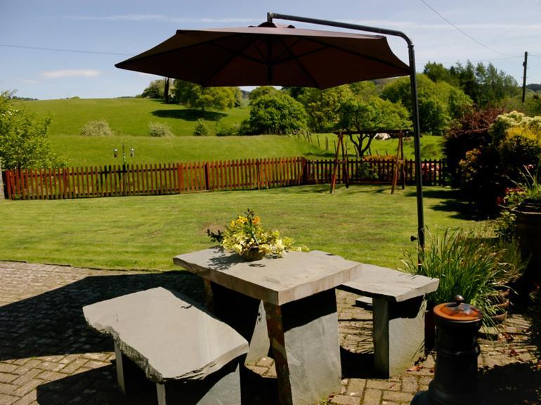 Dine alfresco on the private patio area