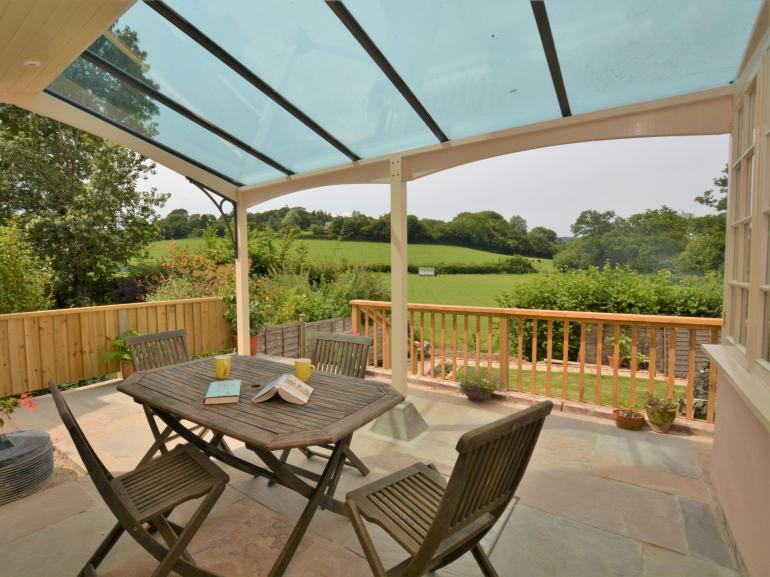 Enjoy the views from the private veranda