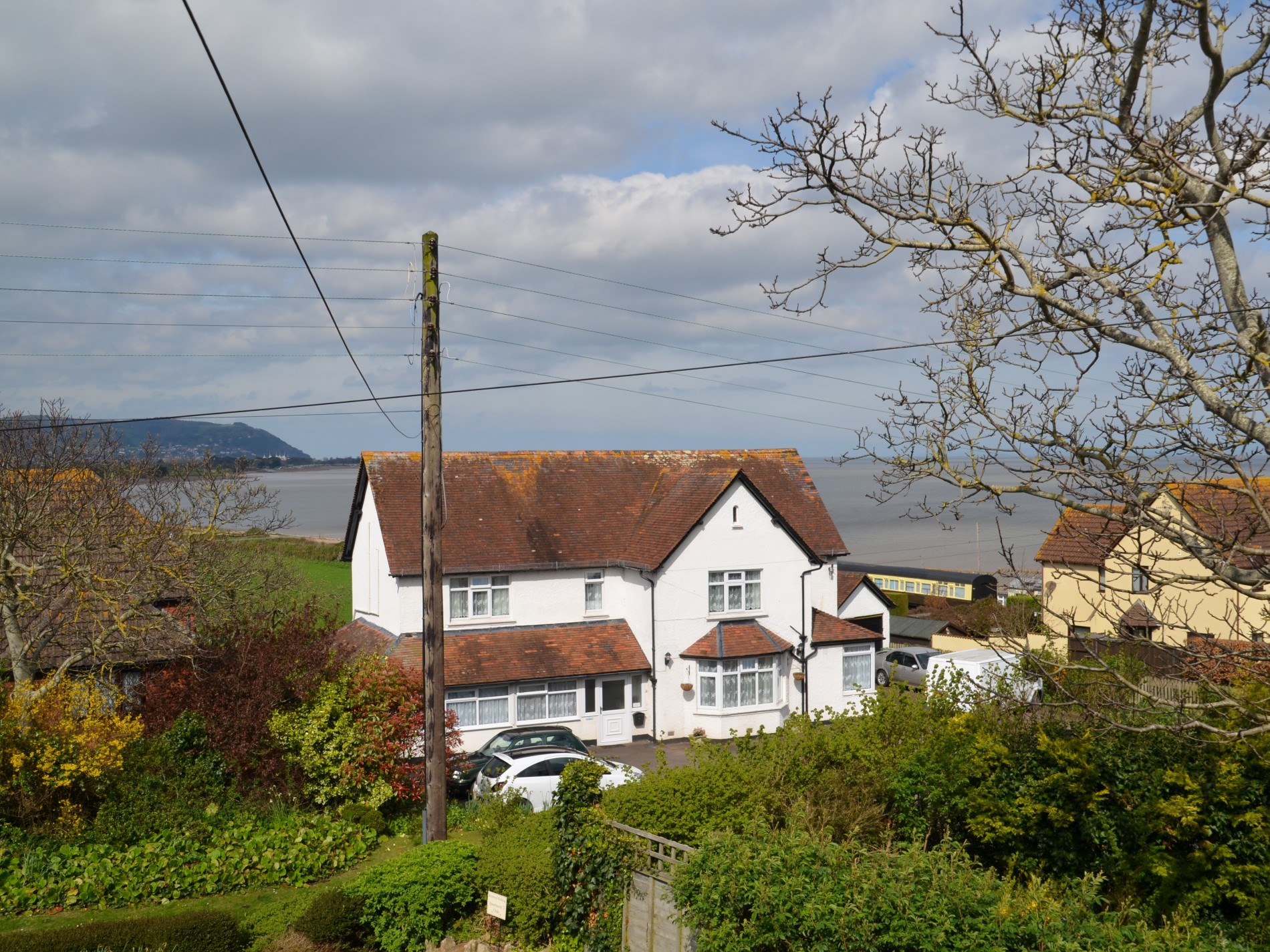 Coastal views towards Minehead from the lounge and dining room