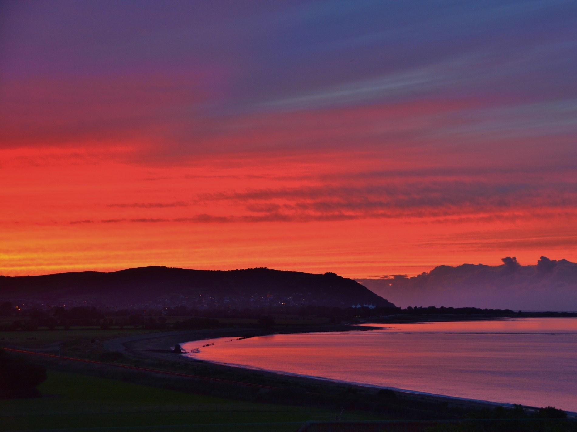 Enjoy fabulous sunsets across to Minehead