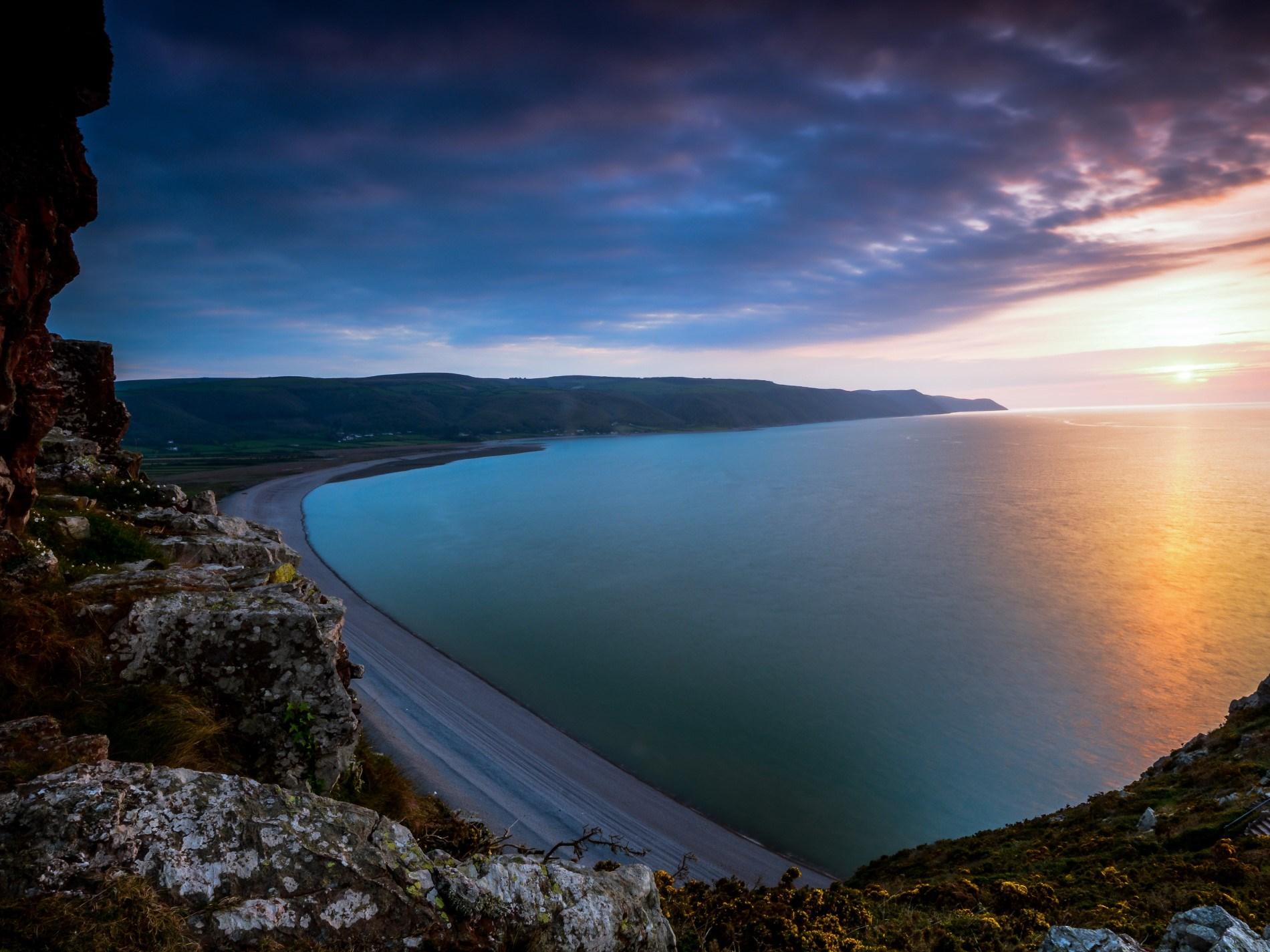 Explore Somersets dramatic coastline just a short walk away
