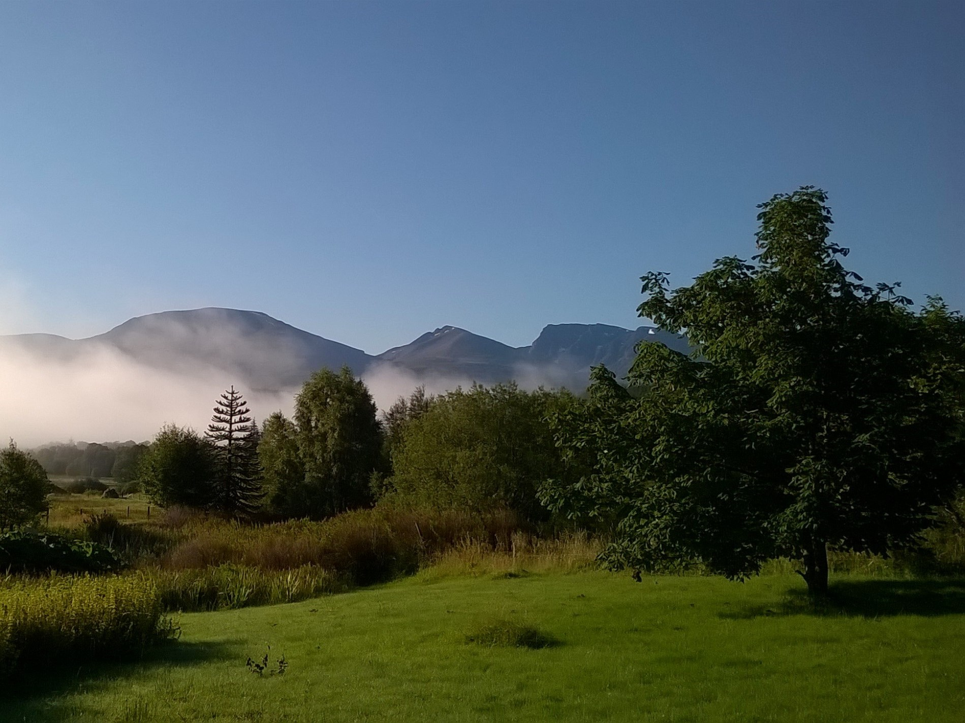 Views from the property's grounds over Ben Nevis