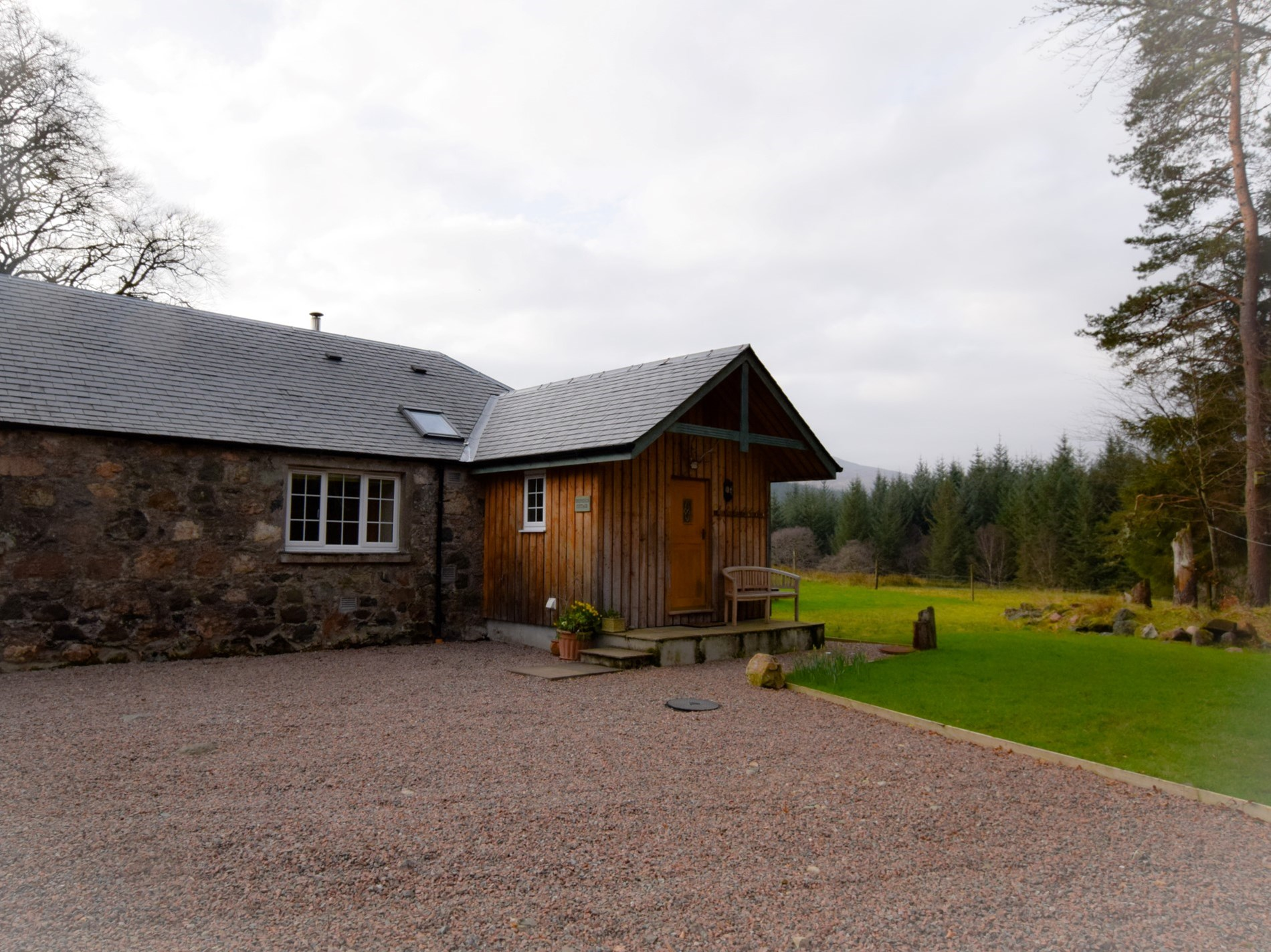 View to the property with ample parking