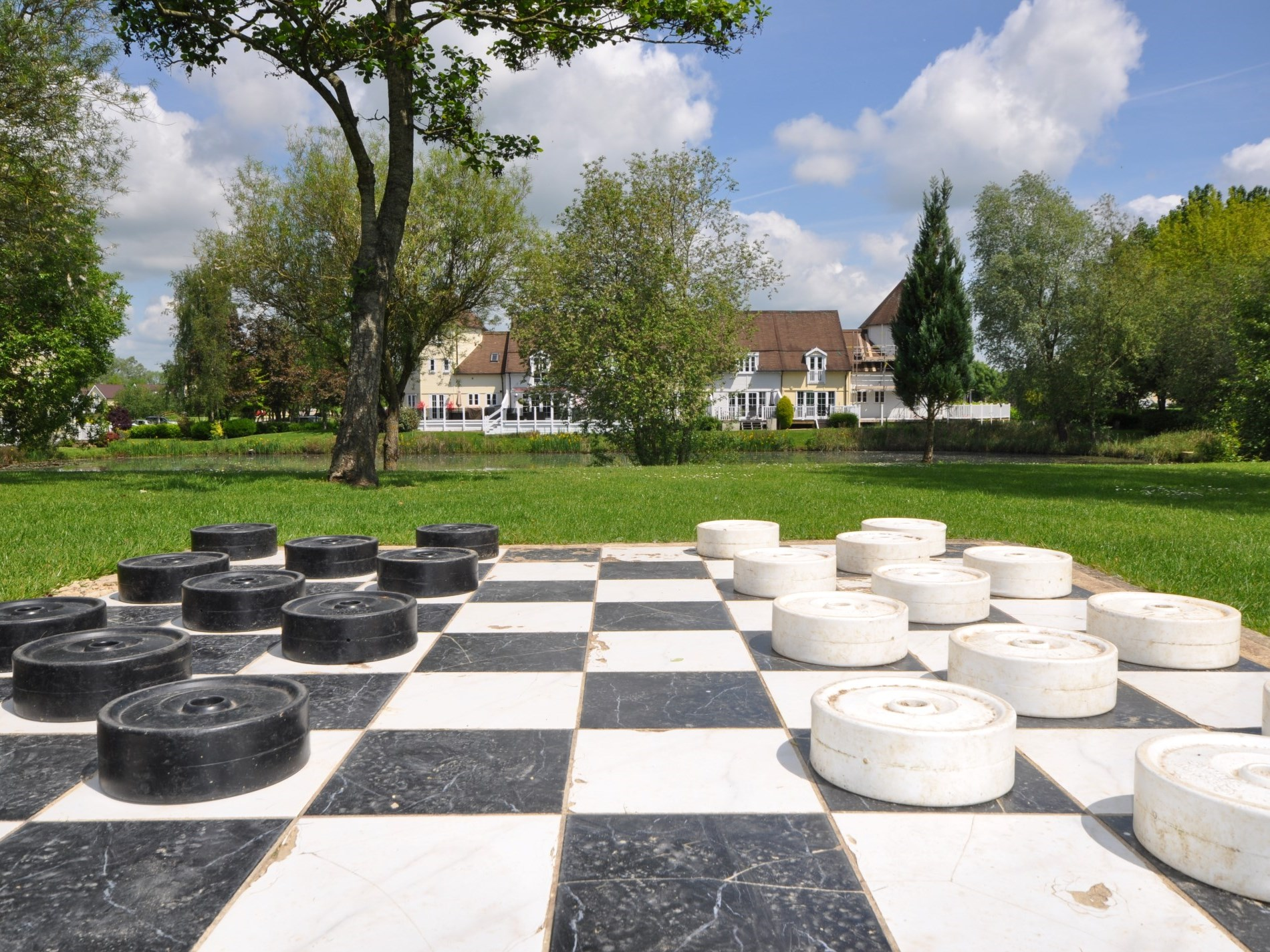 Try your luck with the giant draughts