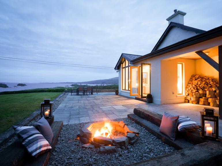 Snuggle up with the warmth of the firepit