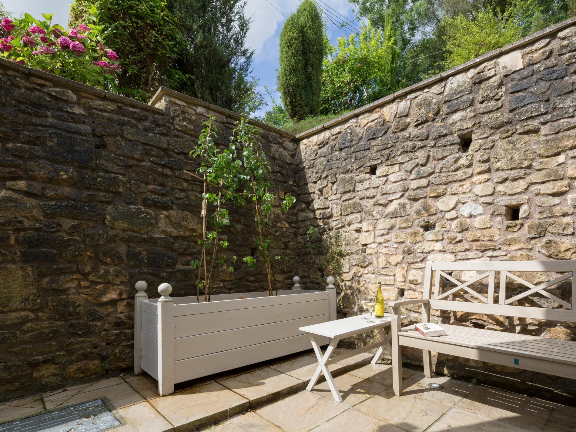 Relax in the private courtyard