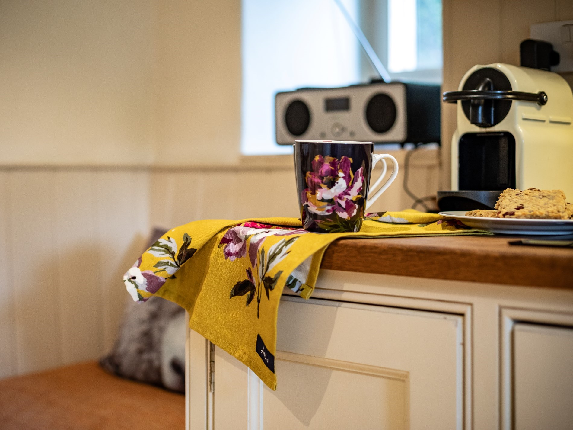 Enjoy a coffee whilst listening to the radio