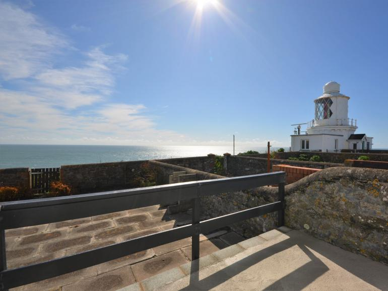 Admire the panoramic sea views from the patio
